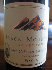 The 2005 Black Mountain Cabernet Sauvignon. $4.99! Why not?