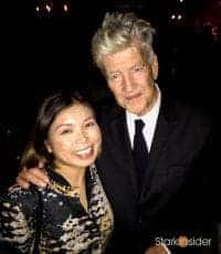 Loni Stark with David Lynch at the Festival of Disruption 2017 in Los Angeles, California.