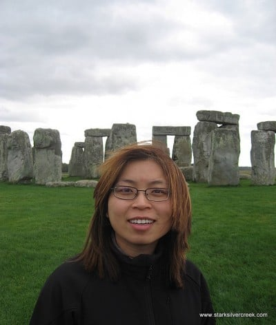 Loni at Stonehenge