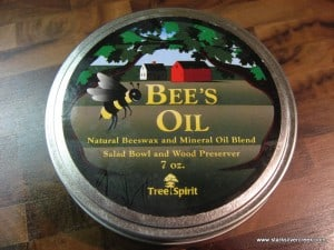 Tree Spirt Bee's Oil: A favorite for protecting wooden cutting boards and spoons.