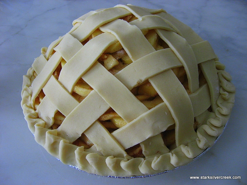 Can you tell I am especially proud of this particular pie's lattice work?