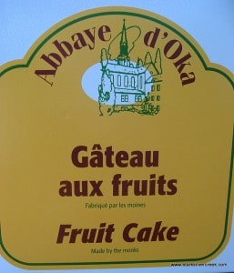 Fruit Cake made by the monks.