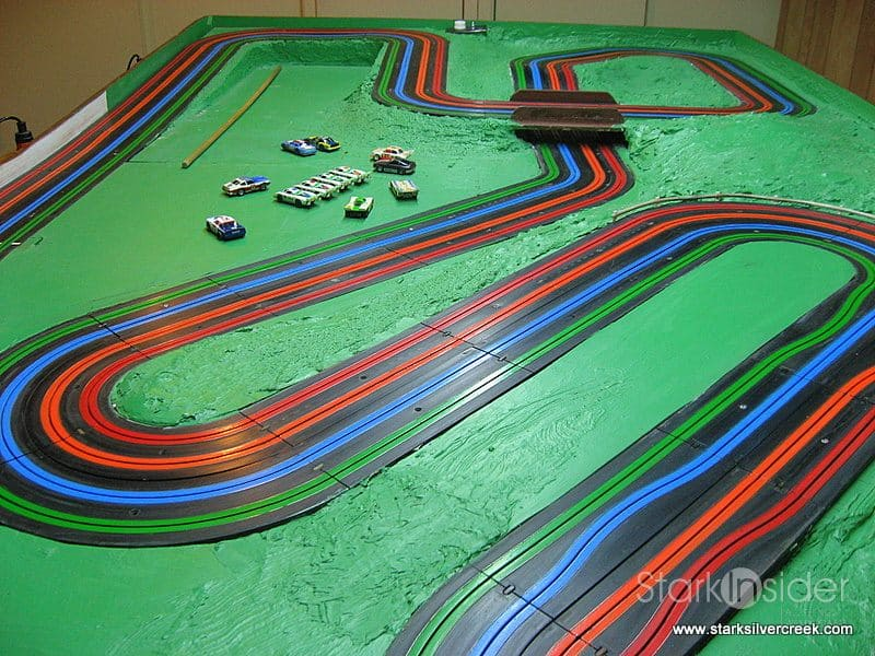 Cars 1 Radiator Springs Race Track And Train Table Wooden Disney Land Mcqueen You
