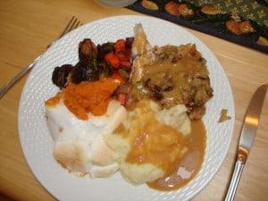 My Gluten Free Thanksgiving Dinner Plate