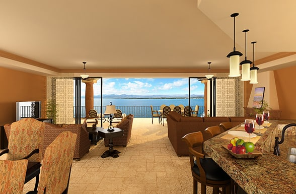 Rendering of floor plan C of the JW Marriott Residences Loreto Development