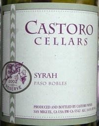 Castoro Cellars Syrah