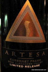 The Artesa Cab Franc is juicy, vibrant and aromatic