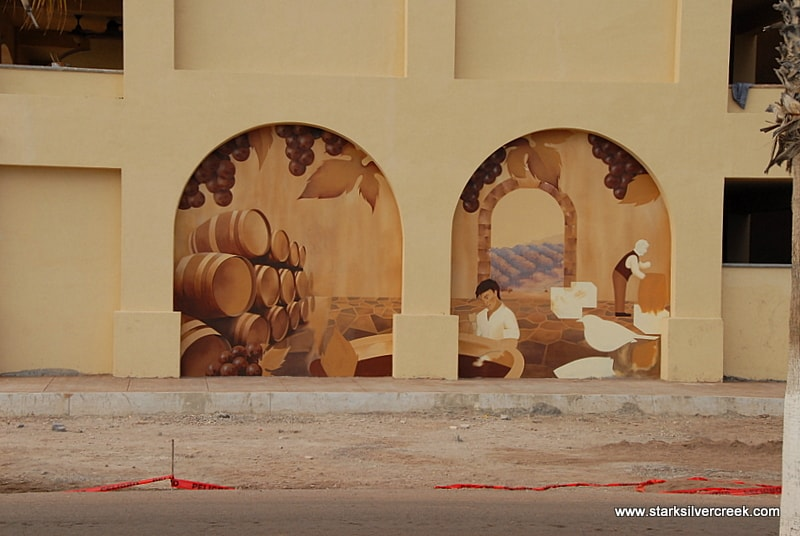 Murals along the La Mision Hotel. Absolutely love the concept and the execution.