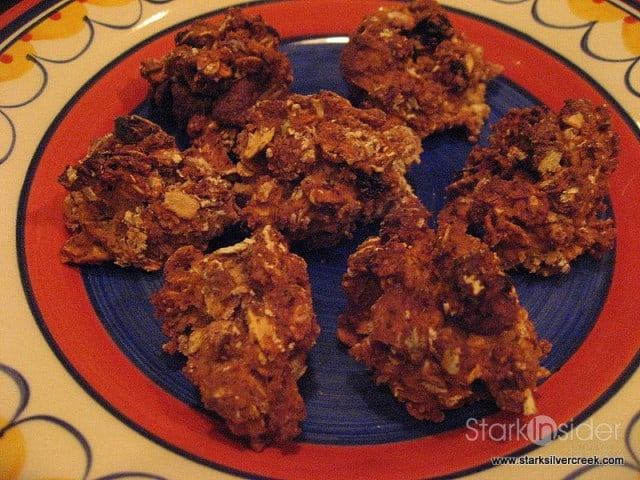 Chocolate Almond Oatmeal Raisin Cookies