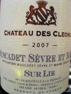 Chateau des Cleons Muscadet Sèvre et Maine 2007