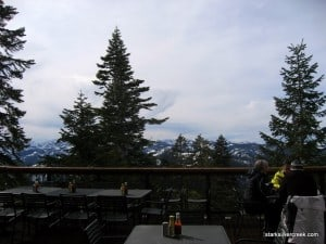 Above 8,000 ft. at Schaffer's Camp with a view to Squaw Valley