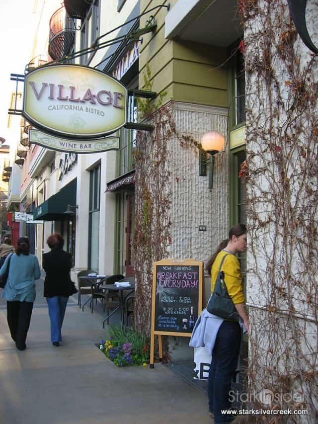 Village California Bistro & Wine Bar, Santana Row