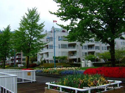 Many well kept condos lined the Fraser