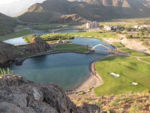 Aerial view of the course (photo by Michael and Brenda Kelly from Club Loreto Bay)