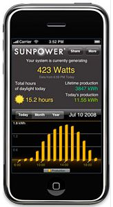 SunPower iPhone app