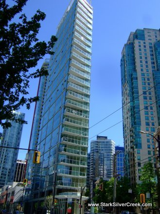 Vancouver's Flatiron in Coal Harbour: Taken from West Pender