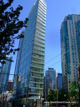 Vancouver's Flatiron in Coal Harbour: Taken from West Pender