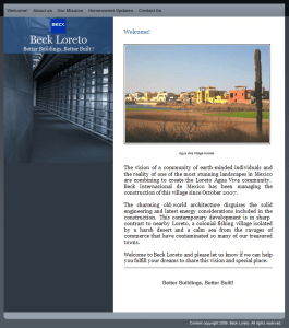 The new Beck Loreto Web Site
