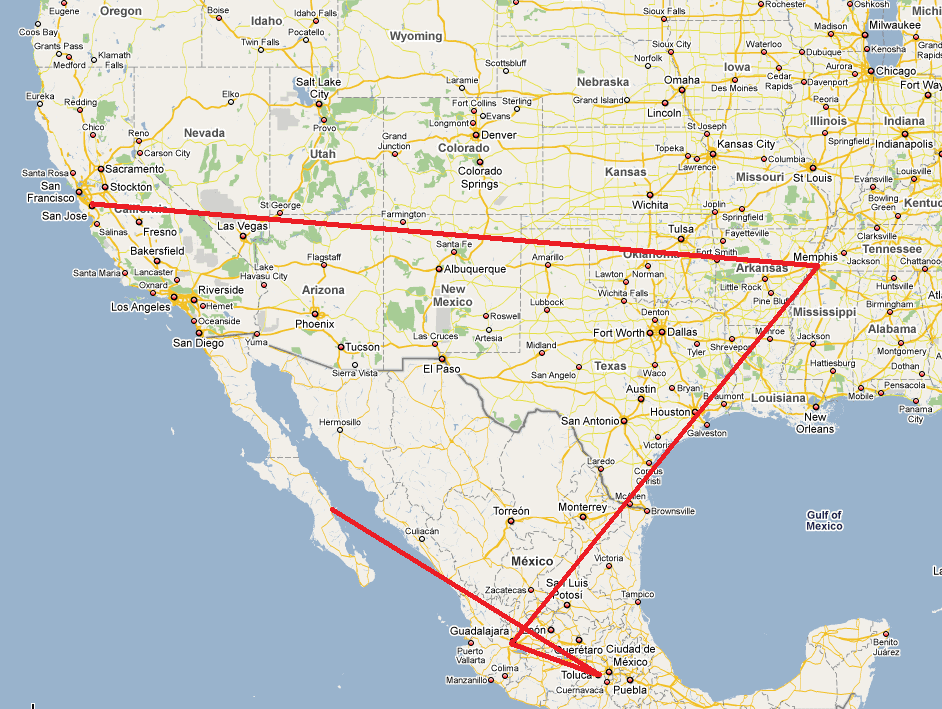 San Jose to Loreto, BCS: Hot on the trails of a FedEx package ... San Jose Map