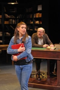 Zoë Winters as Jackie and Warren David Keith as Philip in Mauritius at Magic Theatre. Photo by www.davidallenstudio.com