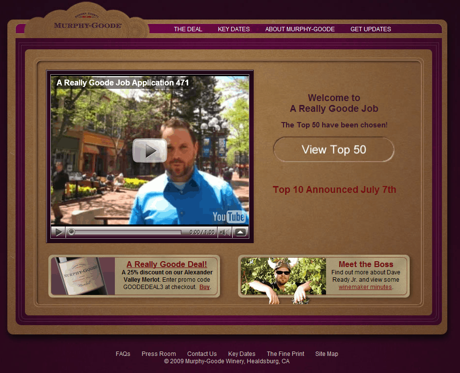 Murphy Goode WIne Blogger Contest - Videos