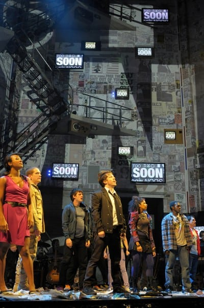 The world premiere of Green Day's American Idiot, staged by Tony-winning director Michael Mayer at Berkeley Rep. Photo courtesy of mellopix.com
