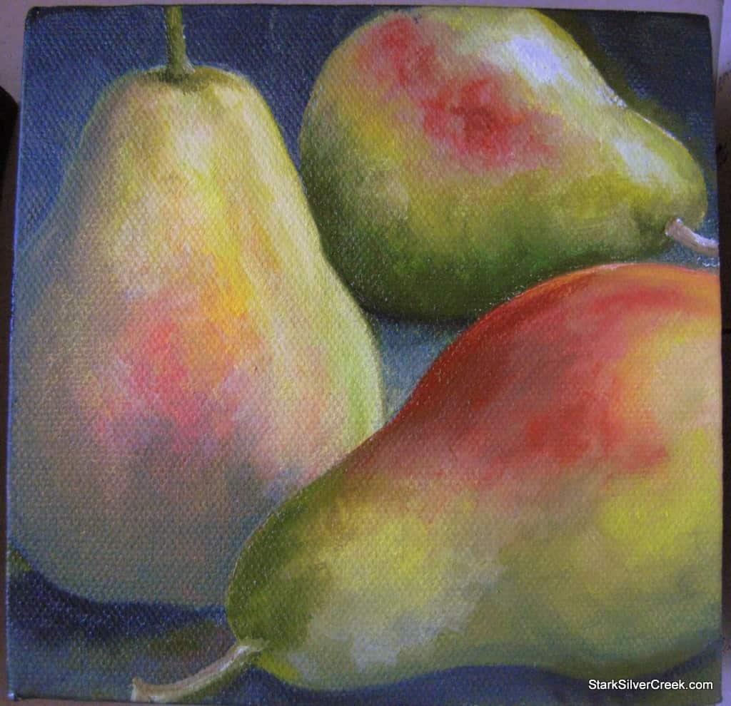 Oil-Painting-Three-Pears-LSTARK