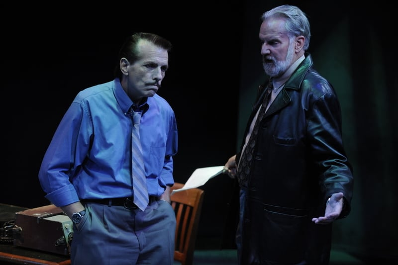 Randall King and Julian López-Morillas in Martin McDonagh's The Pillowman at San Jose Stage Company. Photo by Dave Lepori.