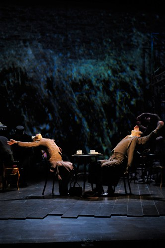 Waves of passion crash over Laura (Hannah Yeland) and Alec (Milo Twomey). Photo by Kevin Berne.