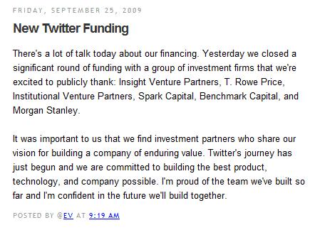 new twitter funding