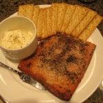 Smoked salmon with paprika mayonnaise