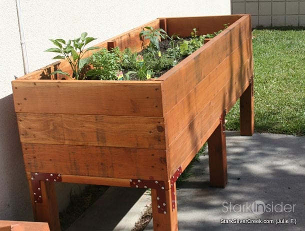 Vegetable planter box turned herb garden julie writes in for Garden planter designs