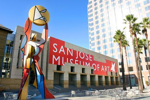 san jose museum of art The san jose museum of art is an art museum in downtown san jose, california, usa founded in 1969, the museum hosts a large permanent collection of west coast artists of the 20th and 21st century it is located at circle of palms plaza , off of plaza de césar chávez [1] [2].