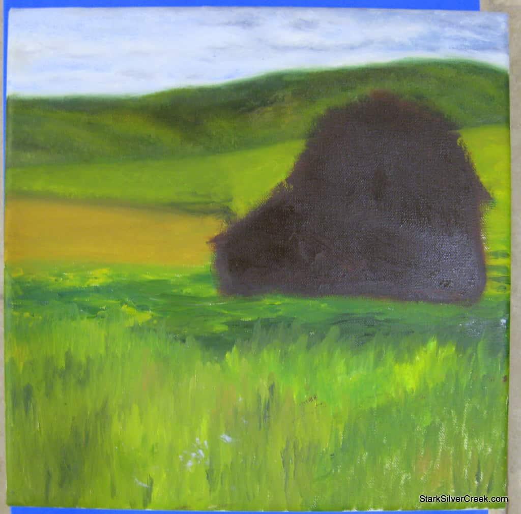 Artist-Diaries-Red-Barn-In-Progress