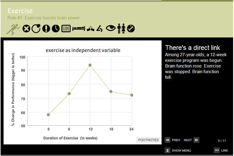 Brain Rule #1: Exercise (For more visit www.brainrules.net)