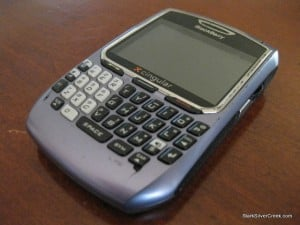 My BlackBerry 8700, high mileage, and a few pavement bounces