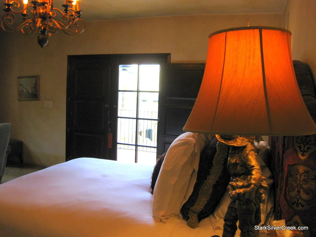 My luxurious king size bed at the Kenwood Inn and Spa.