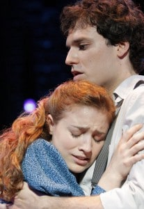 Christy Altomare and Jake Epstein in the national tour of SPRING AWAKENING at Broadway San Jose. Photo credit: Joan Marcus