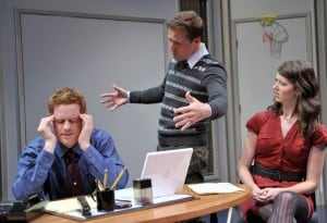 l-r, Jud Williford, Peter Ruocco, and Alexandra Creighton in Fat Pig  Photo by David Allen