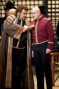 Johan Botha (Otello) and Marco Vratongna (Iago) photo by Terrence McCarthy