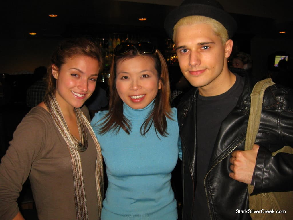 Christy Altomare, Loni Kao Stark and Andy Mientus at cast after party.