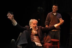 Julian López-Morillas and Randall King as the Harkin brothers in Conor McPherson's The Seafarer. Photo by Dave Lepori.