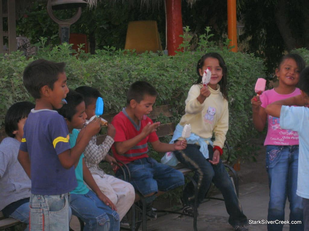 Visiting the Internado and watching the excitment as we brought out popsicles for the all the children. However, they seemed even more excited about the video camera that Clint had. As you know, the net proceeds from the 2010 Loreto Calendar will benefit these children.