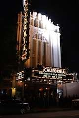 The California Theatre on Opening Night.