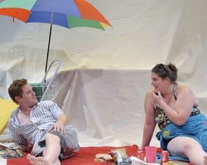 Jud Williford and Liliane Klein in Fat Pig Photo by David Allen