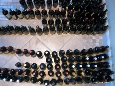 Vigilant wine rack installation, wine bottle transfer