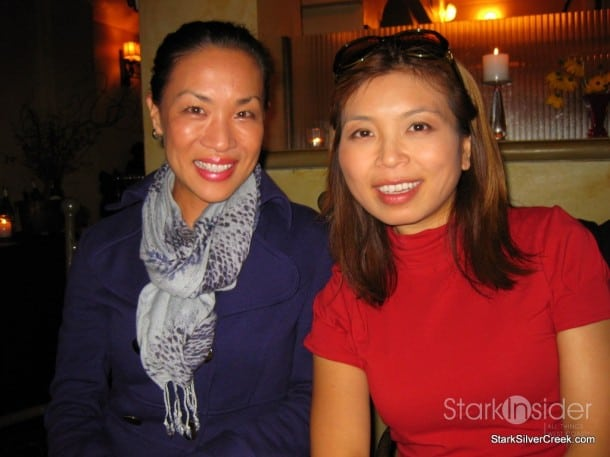 Enjoying fine wine and food with the Food Fashionista (Mika Takeuchi)