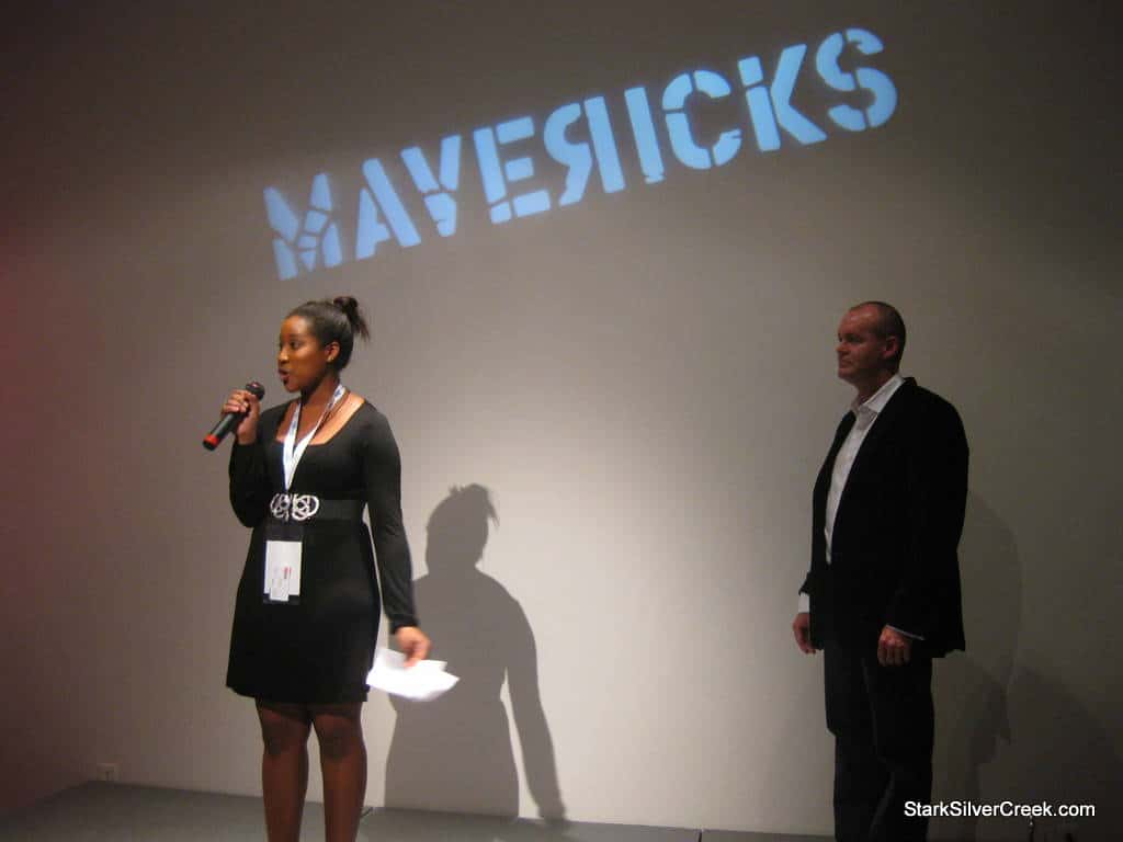 Darnisha Bishop, publicist for Cinequest welcomes the attendees.