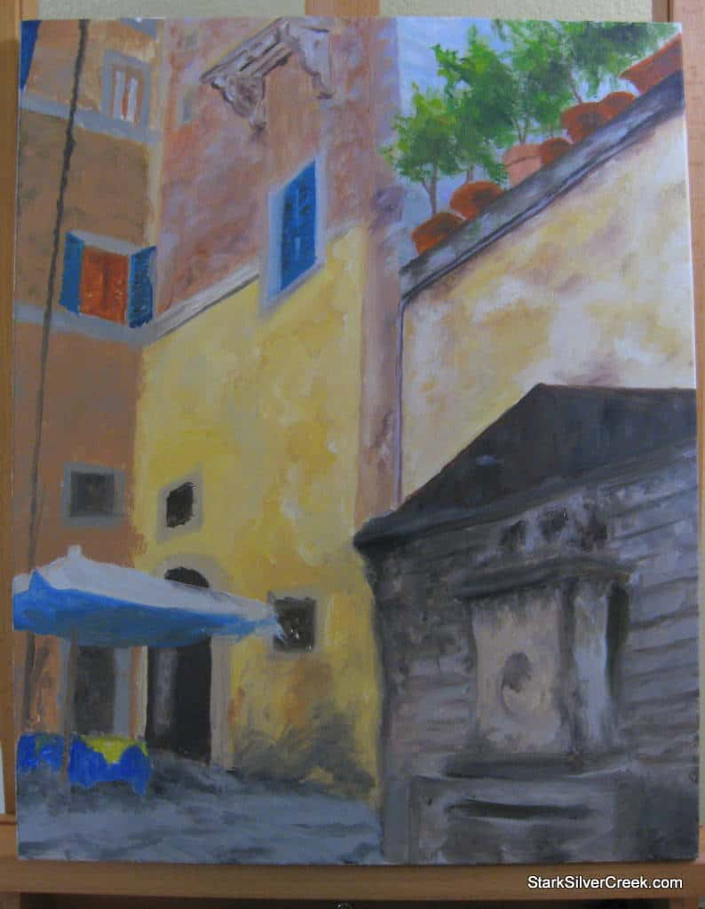Streets of Rome Oil Painting
