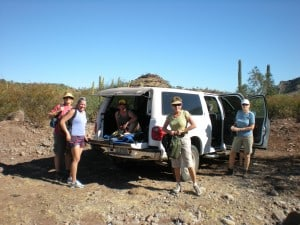 Susan heroically drove us through challenging roads to the start of our hike